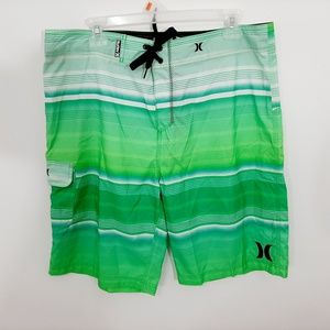 Hurley Men's Boardshorts Size 36 Multi Color Green